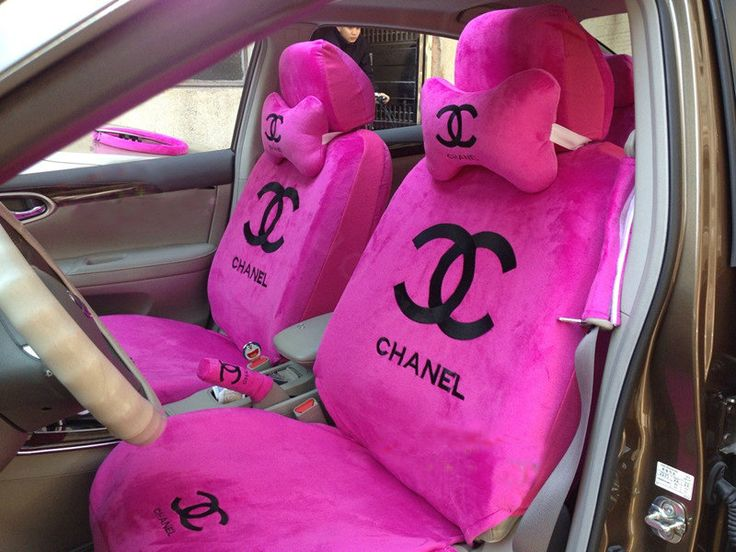 chanel seat covers  | Classic Chanel Universal Plush Velvet Auto Car Seat Cover 10pcs Sets ...