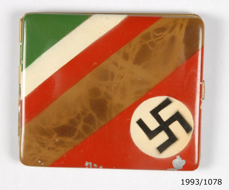 German cigarette case, World War Two era. From the collection of the Air Force Museum of New Zealand.