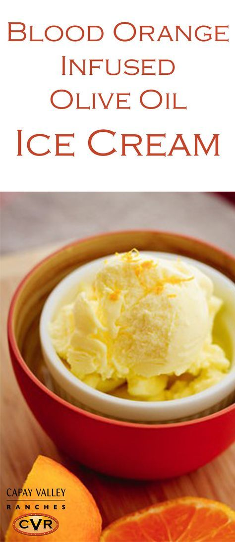This smooth and creamy olive oil ice cream recipe resembles gelato. Made with our Blood Orange infused olive oil, this is the perfect way to make ice cream. Great ice cream recipe to impress your guests!