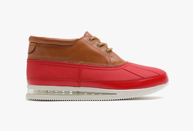 Gourmet Quadici.    Almond leather / Red Rubber mid duck. white air sole.    via: http://fadashh.tumblr.com/