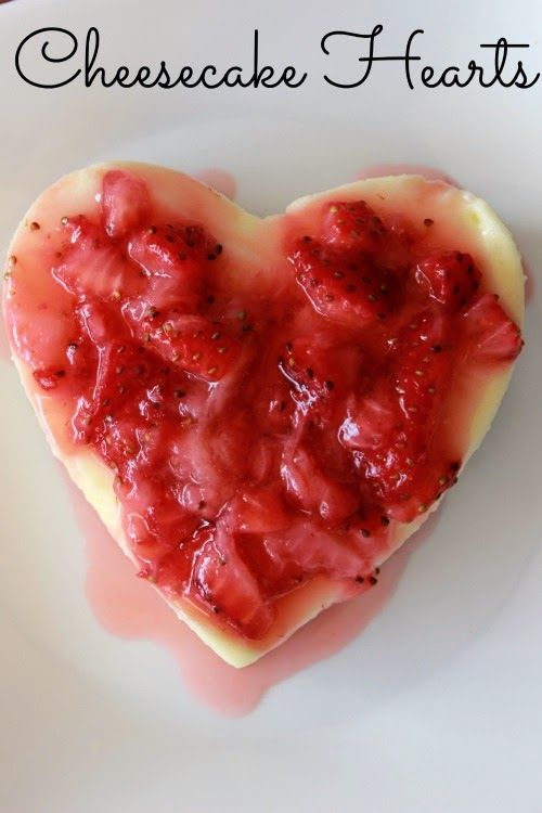 Cheesecake Hearts dessert - perfect for Valentine's Day