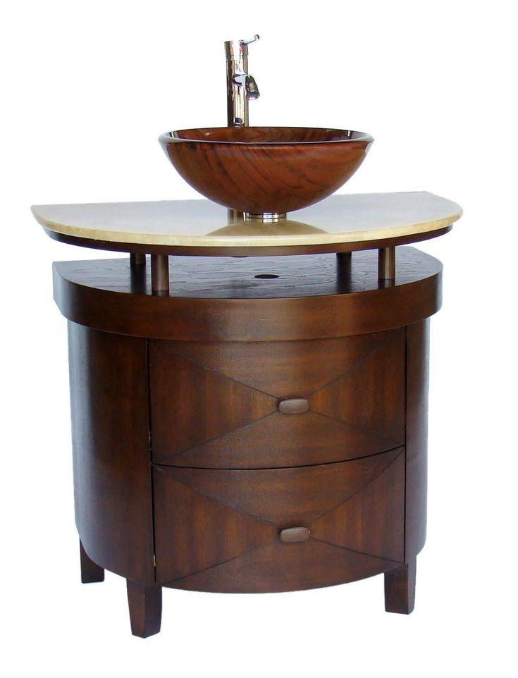 Verdana 32 Inch Vessel Sink Vanity   Transitional   Bathroom Vanities And  Sink Consoles   Chans Furniture