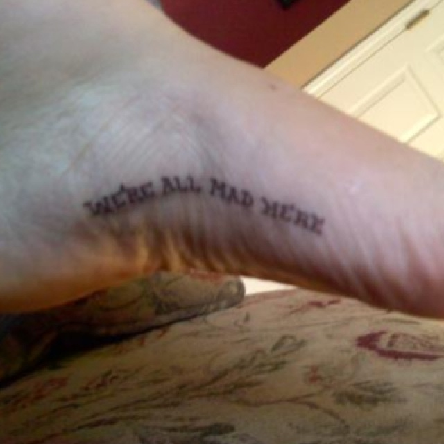 tattoo on the inside arch of the foot?