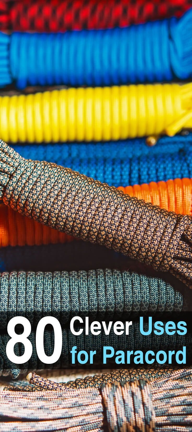80 Clever Uses for Paracord. Paracord is one of the most versatile survival tools. Originally it was used for parachutes, but people quickly found many other uses for it.