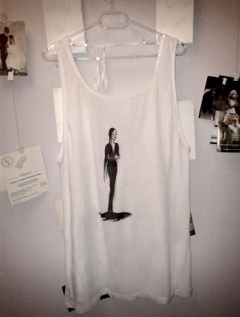 morticia tshirt design