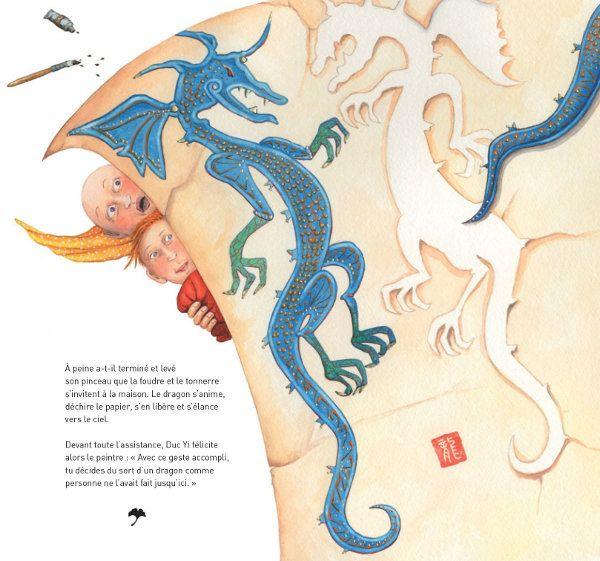 "Valérie Dumas illustration for ""Le Duc aime le Dragon""."