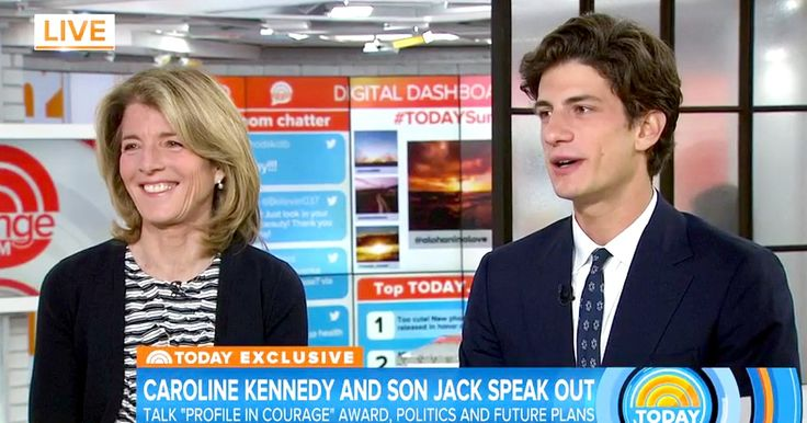 The late President John F. Kennedy's only grandson, John 'Jack' Schlossberg, made his first live TV appearance alongside his mom, Caroline Kennedy, on the Friday, May 5, episode of the 'Today' show — watch it here