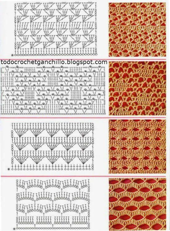 17 best images about puntos a crochet on pinterest - Puntos para tejer ...