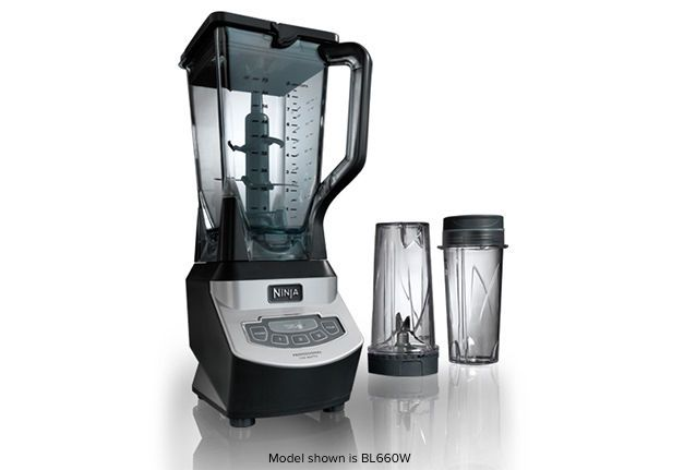 The Ninja® Professional Blender with Single Serve gives you professional blending performance in both full size pitcher and Nutri Ninja® cups!