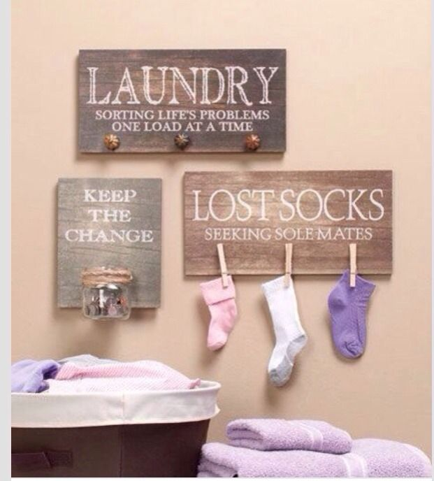 DIY Laundry Room Decor Laundry Room Pinterest So Cute Lost Socks And S