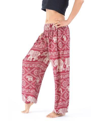 Pantalon bouffant imprimé éléphants