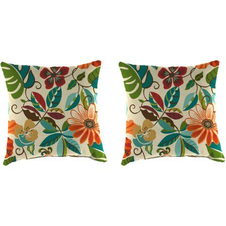 "Free Shipping on orders over $35. Buy Jordan Manufacturing Indoor/Outdoor Patio 16"" Square Toss Pillow Set, Lensing Jungle at Walmart.com"