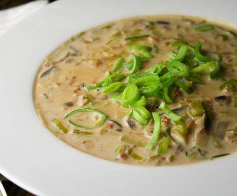 """Rezept Vegane """"Hackfleisch-Käse-Lauch-Suppe"""" von trenukina - Rezept der Kategorie Suppen"""