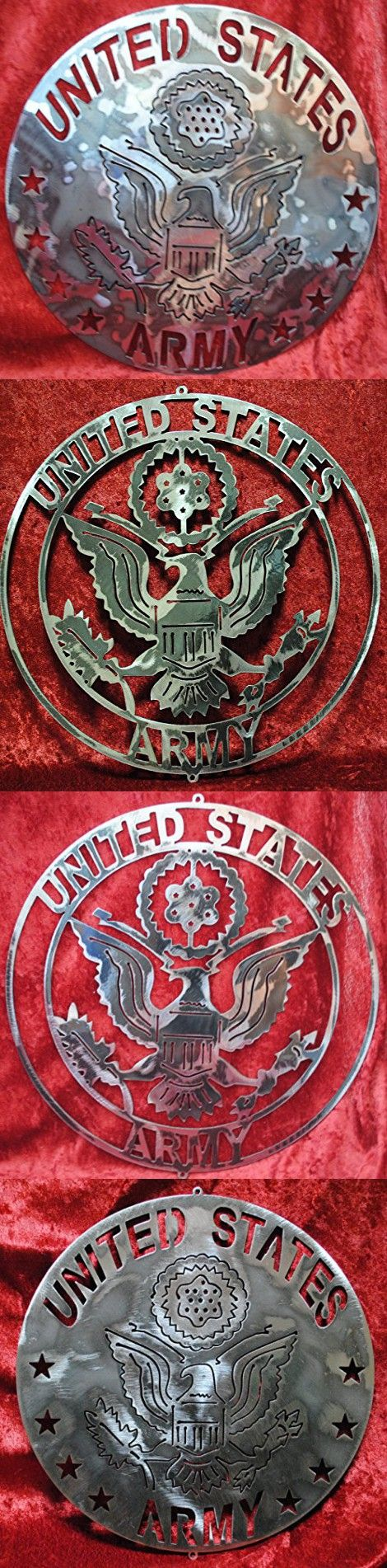 United States ARMY, USA, Military, ARMY, Land-Based Military, Continental Army, Metal Military Round, Metal Eagle, Soldiers, Veteran, Gift