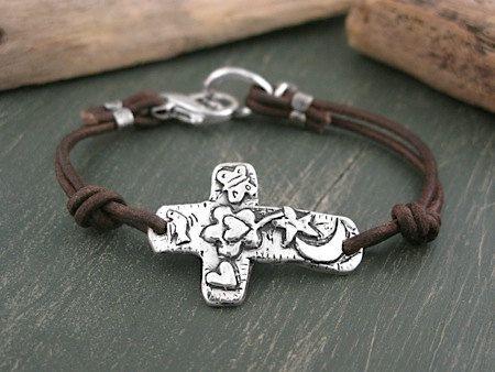 Cross Bracelet - Grow Your Faith Bracelet - Inspirational Jewelry - Handmade Jewelry