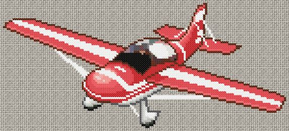 red airplane   click on chart