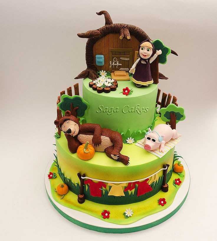 Masha and the bear/ Masa i medved https://www.facebook.com/saga.cakes
