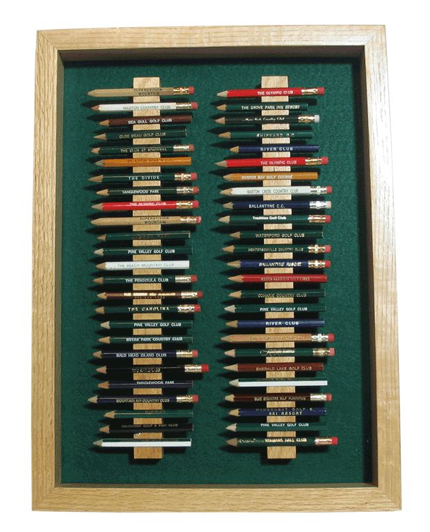 50 Golf Pencil Display Case - GreatGolfMemories.com