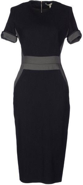 V.BEckham Knee Length Dress - Lyst                              …