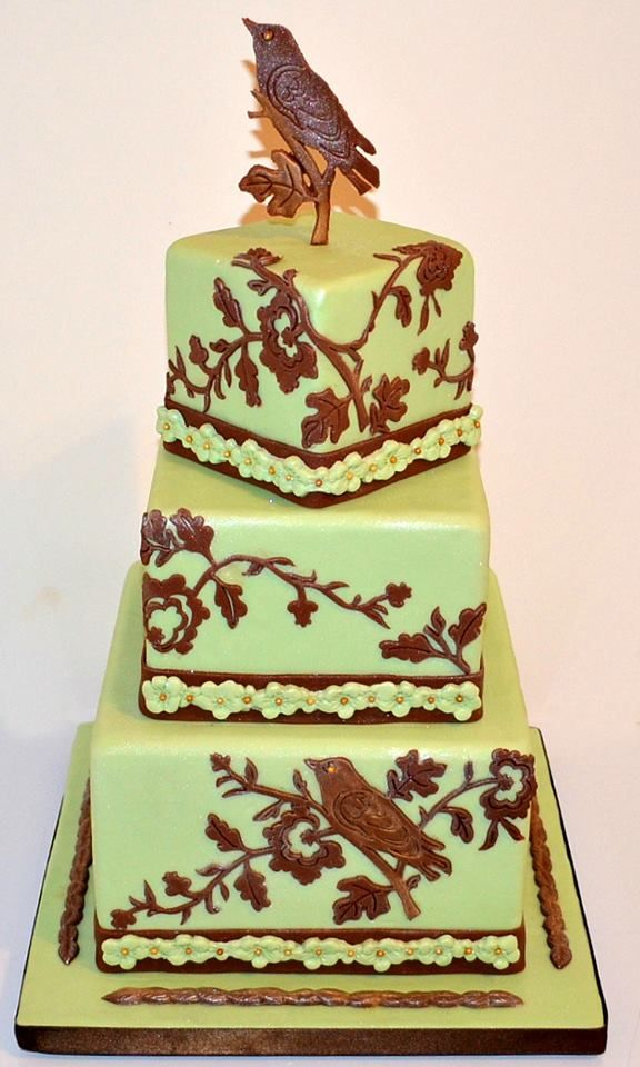 Bird Wedding Cake By Sylvia Wilson Made With Our Blossoms Silicone Onlay