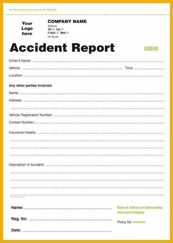 Accident Report Form With Images Report Template Accident