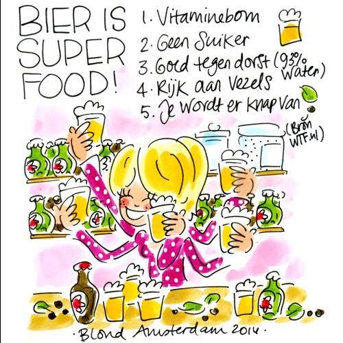 """""""Bier is super food!"""" - Blond Amsterdam (ik vind het alleen écht niet lekker )"""