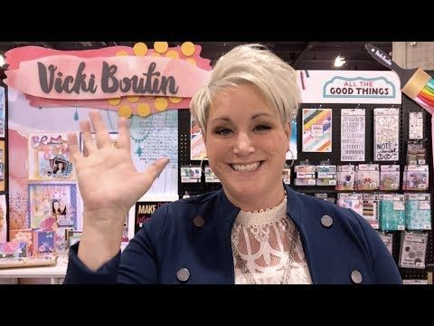 (96) 5 ways to use Vicki Boutin's Art Crayons - Creativation 2018 - YouTube