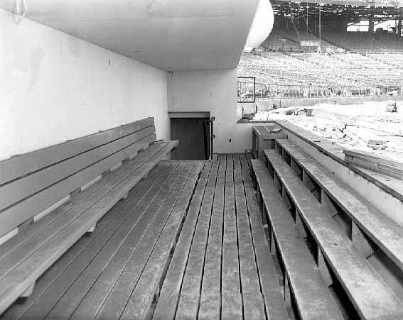 Metropolitan Stadium dugout