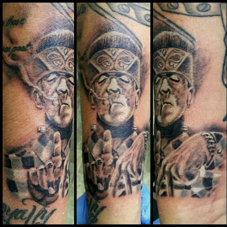 love it tatted frankenstein by skin it tattoo shop ogden