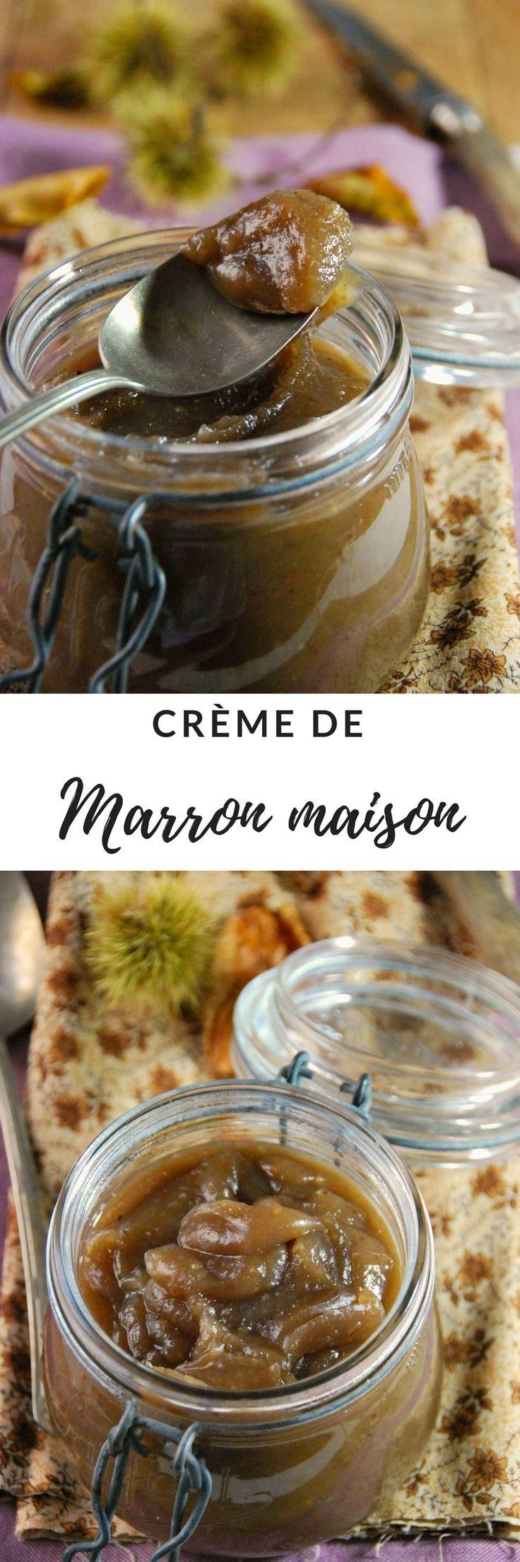 Crème de marron maison à la vanille