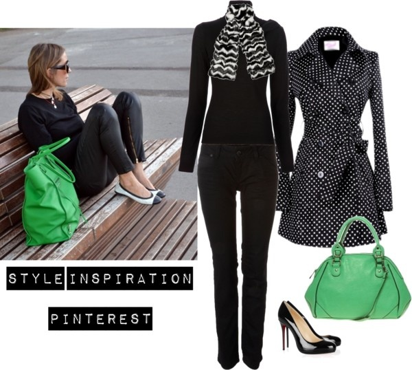 """""""All-black outfit & Neon green bag"""" September 5th"""