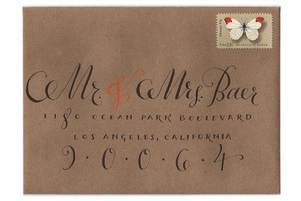 Modern Wedding Calligraphy: Plurabelle // Via Modernly Wed (1)