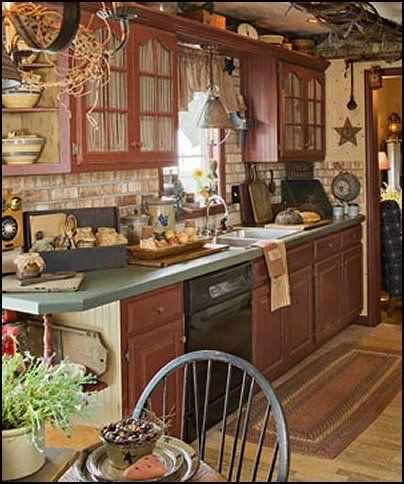 Primitive Style Decorating Ideas Americana Folk Art Heartland Decor Kitchencountry