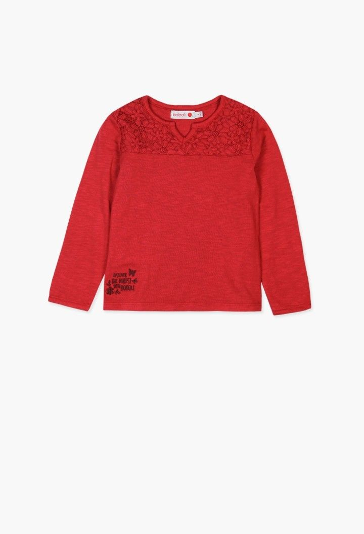 T-Shirt tricot flame-T-Shirt-FILLE  64f3746c22a3