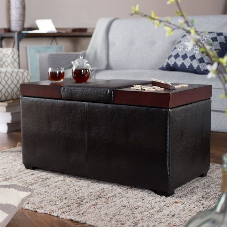 Belham Living Madison Leather Coffee Table Ottoman with Storage -  Y1872.0005-MP - 25+ Best Ideas About Leather Coffee Table On Pinterest