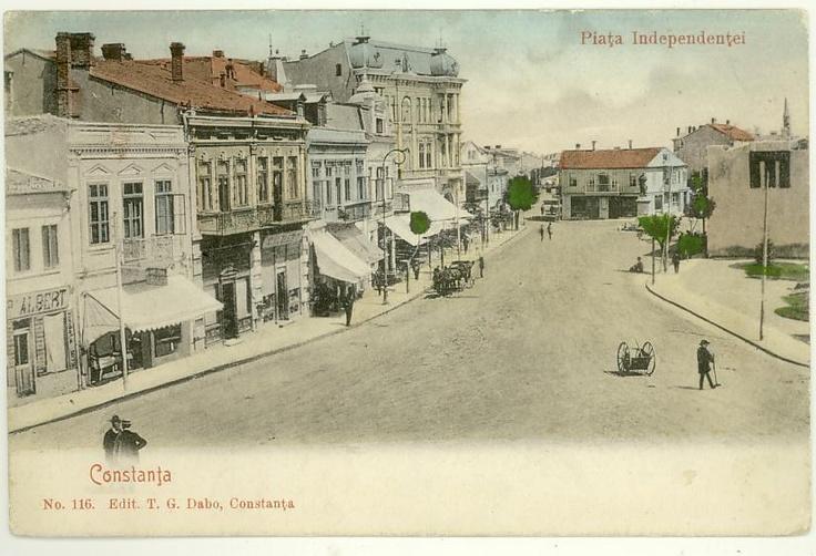 Constanta - Piata Independentei (Ovidiu de astazi) - antebelica