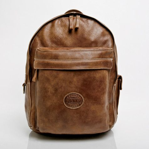 Roots Canada Leather Backpack