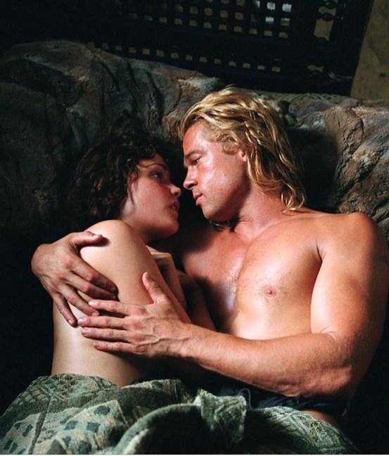 Brad Pitt & Rose Byrne. Troy 2004. Achilles & Briseis.