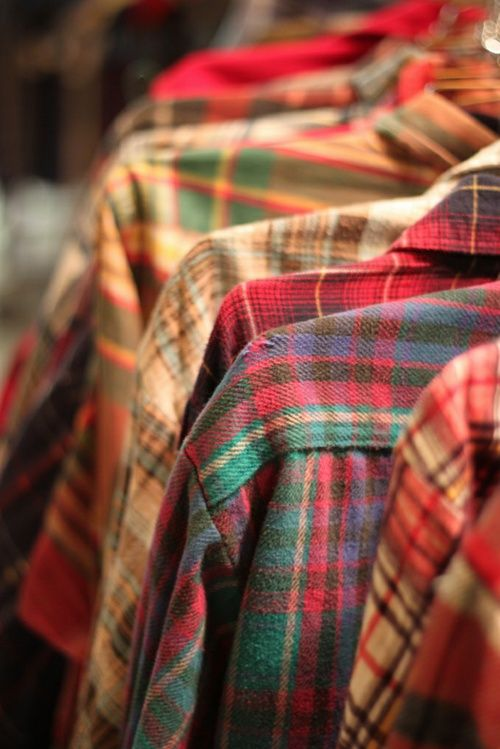 my style ~ old worn flannels- keep handy for chilly fall nights