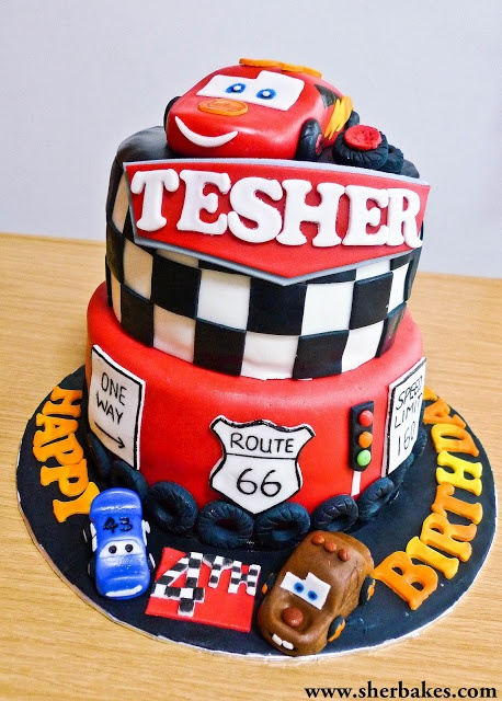 Life is too short, Eat Desserts: Lightning Mc Queen Cars cake