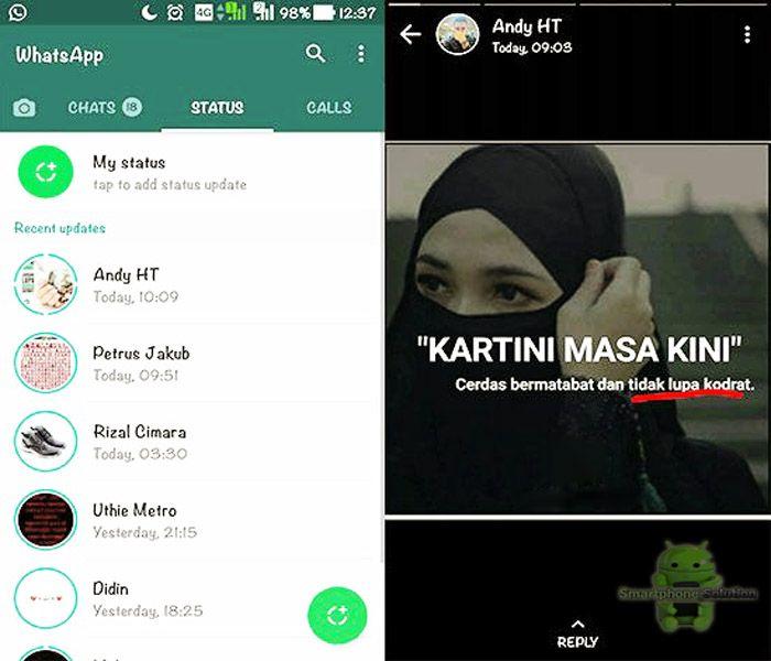 Bikin Stories WhatsApp Di Android