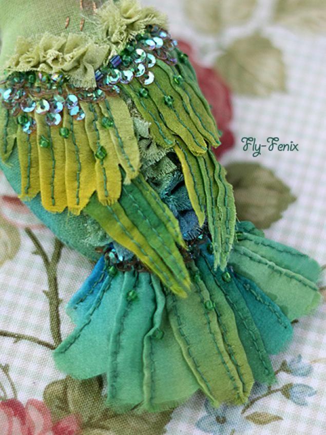 Шелковая птица-брошь (мастер-класс) - Ярмарка Мастеров - ручная работа, handmade