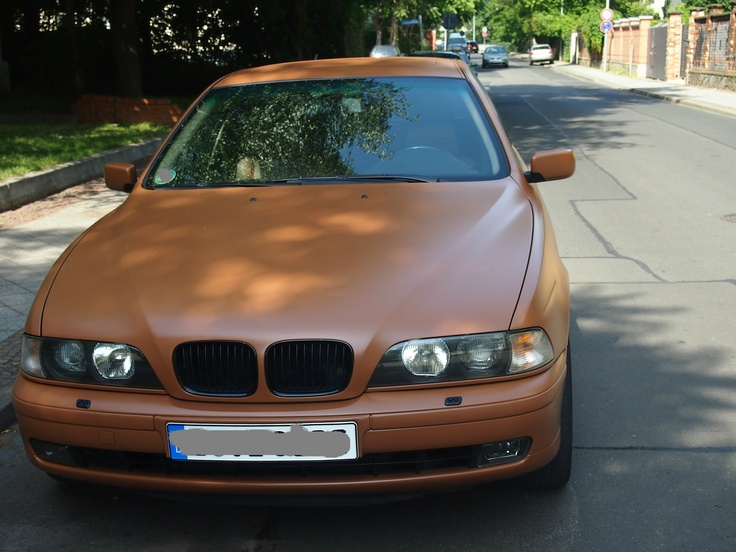 New trend in German cars. Why would you buy a BMW and then have it painted in opaque brown? Photo: GManco