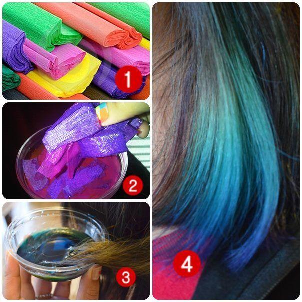 Como teñir el pelo con papel crepe - Taringa!