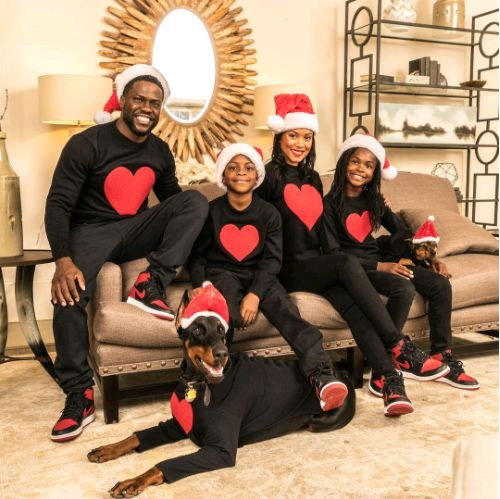 Kevin Hart, Wife and Kids in Cute Christmas Photos