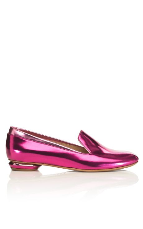 Nicholas Kirkwood pink metallic slipper - are these killer or what?