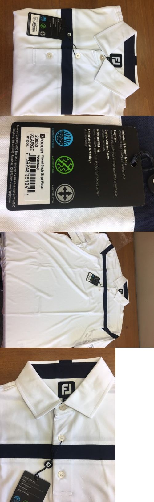 Other Golf Clothing 158939: Brand New Footjoy Golf Shirt Size Xl Color- White Navy -> BUY IT NOW ONLY: $74.99 on eBay!