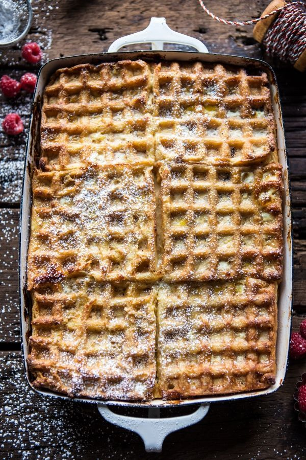Top this Monte Cristo Waffle Strata with berries, fruits, jam, nutella, or a dollop of whipped cream for a truly scrumptious start to the day.