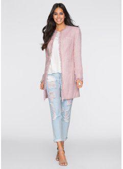 Uzun Blazer Ceket, BODYFLIRT, pembe