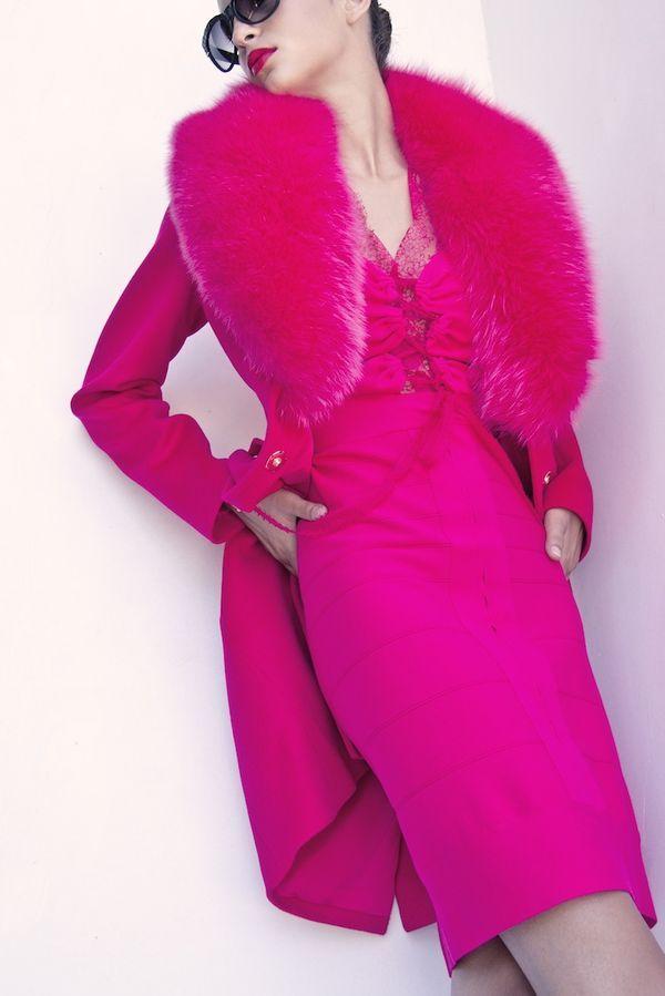 BLUMARINE COAT & DRESS